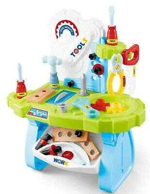 Childrens Work Bench Kids Play Set With 33 Tools Diy Tool