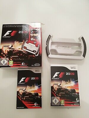 F (Nintendo Wii, ) with steering wheel. New in box
