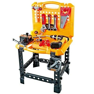 Kids 52pcs Workbench Tools Play Set Children Creative