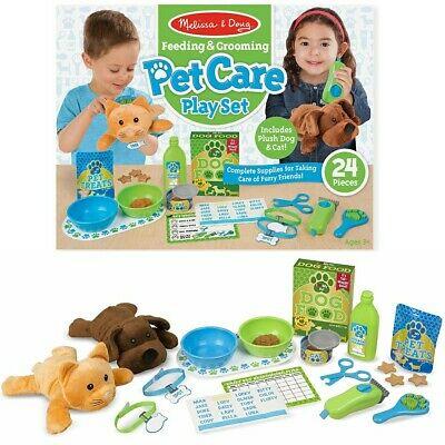 Melissa & Doug 24pc Feeding and Grooming Pet Care Play Set