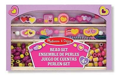 Melissa & Doug Happy Hearts Wooden Bead Set Childrens Art &