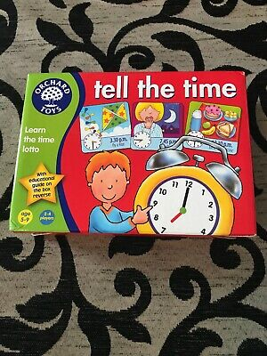Orchard Toys Tell the Time Teacher Tested Educational Game.