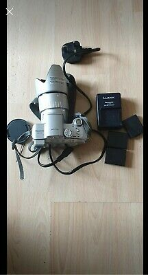 Panasonic Lumix DMC-FZ5 Digital Camera, Silver, with
