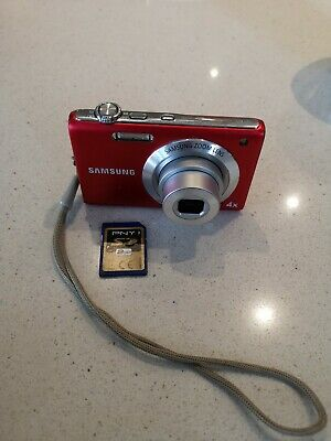Samsung ST Series STMP Digital Camera - Red