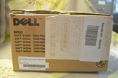 Genuine Original Dell High Yeild Black Toner RFdn
