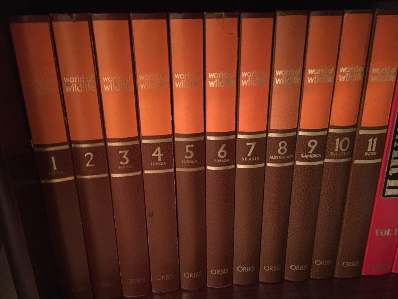 """Orbis """"World of Wildife"""" bound books (11 volumes)"""