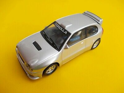 SCALEXTRIC C TOYOTA COROLLA SILVER IN NEAR MINT
