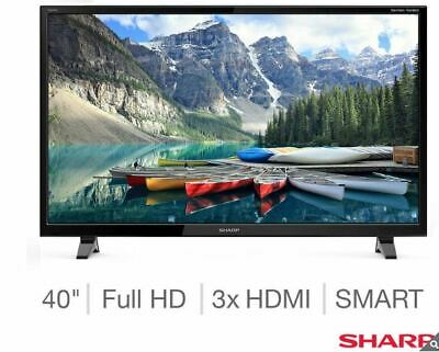 Sharp 40'' Inch LED Full HD Smart TV p Freeview Play HD,