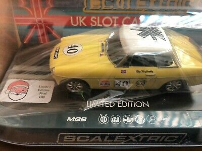 m/b SCALEXTRIC MGB FESTIVE SLOT  LIMITED EDITION OF 100