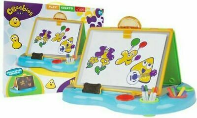 BBC CBeebies My First Art Desk Kids Easel Two Sided White