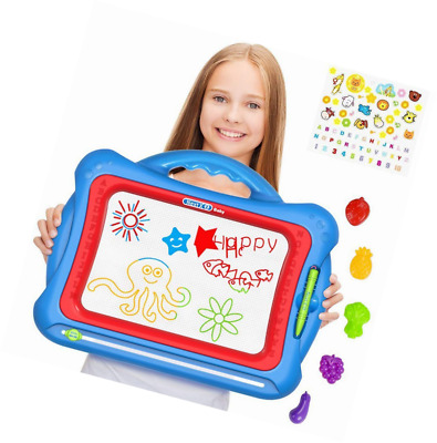 Geekper Magnetic Drawing Board For Kids with 5 Shape Stamps