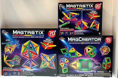 Magcreator and Magtastix Set of 3 Building Sets - 3