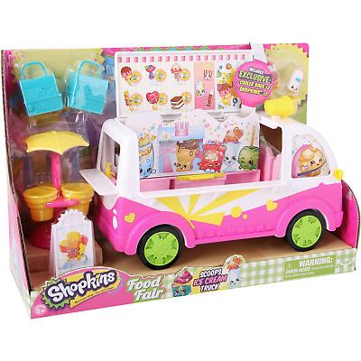 Shopkins Scoops Ice Cream Truck Playset Food Fair Kids Gift