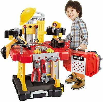 Toy 100 Pieces Kids Construction Workbench Toddlers Power