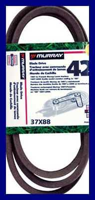 42 Lawn Mower Blade Belt '97 & Up 37X88MA 1 Pack FREE