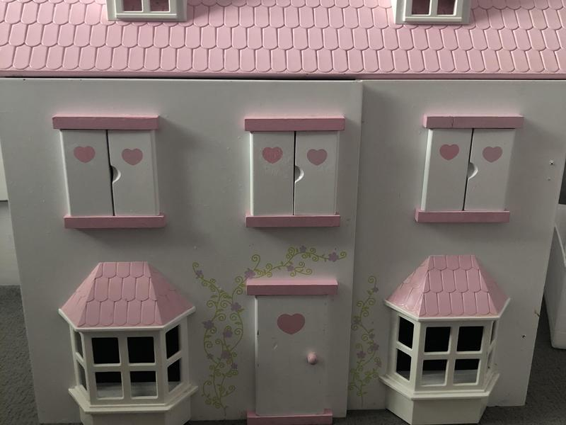 Dolls House with Playmobil play sets