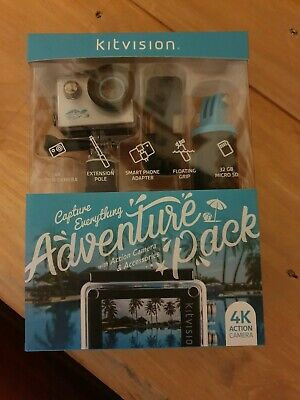 Kitvision 4K Action Camera with Accessories Digital Camera