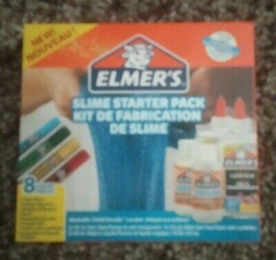 BNIB Elmer's Slime Starter Kit, Clear Glue, Glitter Glue