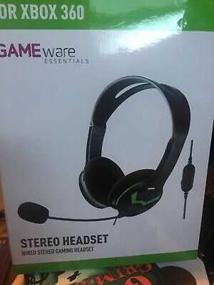 Microsoft Xbox 360 Wired Headset Black/Gray Versatile