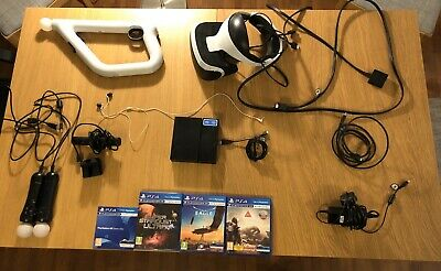 Sony PlayStation 4 VR Headset Bundle With Aim Controller