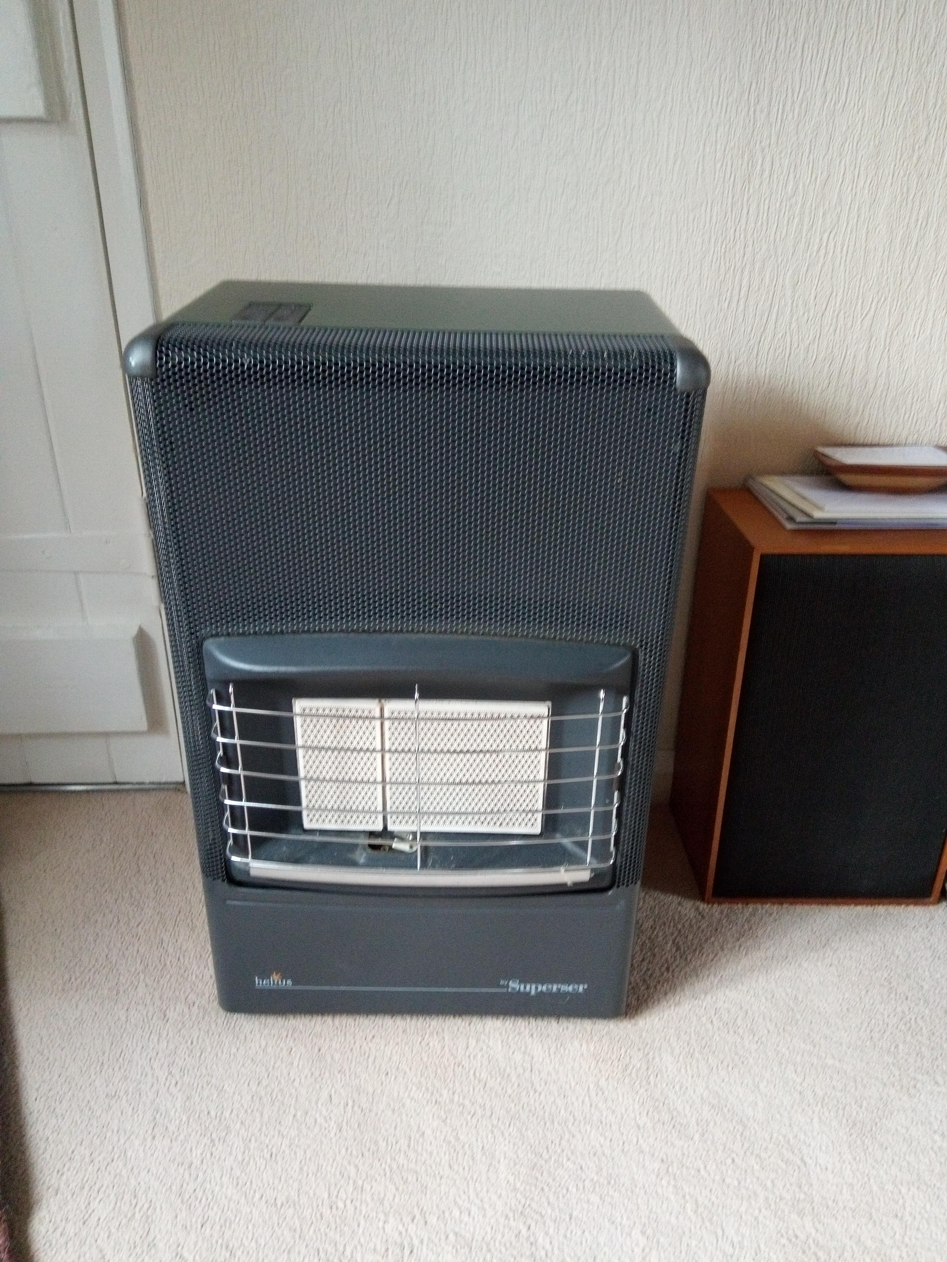 portable gas fire for sale as new never been used