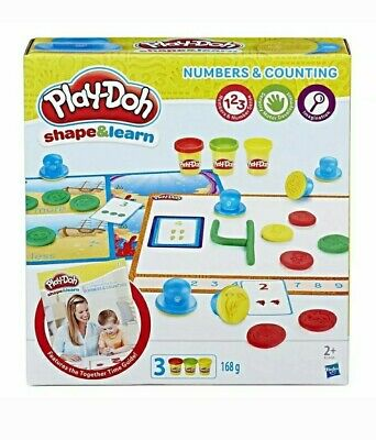BNIB KIDS PLAY DOH SHAPE & LEARN SET NUMBERS & COUNTING AGE