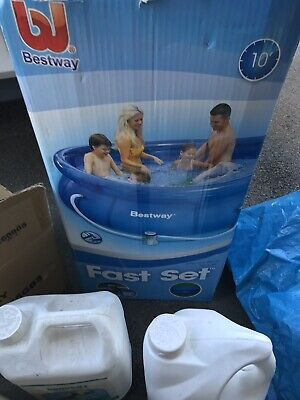 Bestway 10ft Fast Set Family Swimming Pool Outdoor Garden