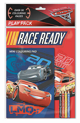 Disney Pixar Cars 3 Play Pack Colouring Pads Pencils