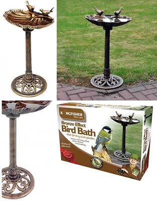 Kingfisher Bronze Effect Plastic Bird Bath UK POST FREE