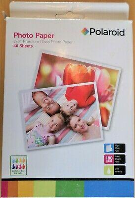 "Polaroid Premium Gloss Photo Paper 7x5"" 30 Sheets 180gsm"
