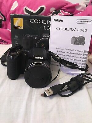 Black Nikon COOLPIX LMP Digital Camera Used In Box