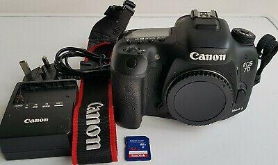 Canon 7D Mark II 20MP APS-C Camera 32GB SD Card Battery