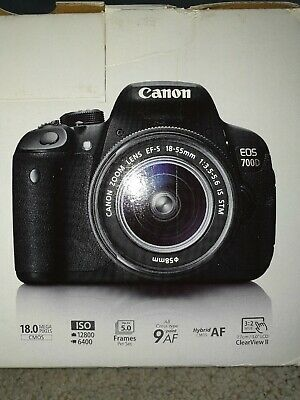 Canon EOS 700D 18MP Digital SLR Camera Kit with EFS mm