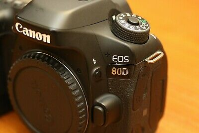 Canon EOS 80D 24.2MP Digital SLR Camera Body Only - Black