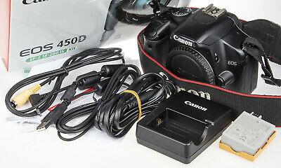 Canon EOS Rebel XSi / 450D DSLR camera +box, USB-, A/V cable