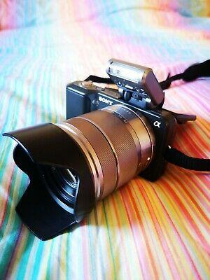 Sony Alpha NEX-3K 14.2MP Digital SLR Camera - Black (Kit