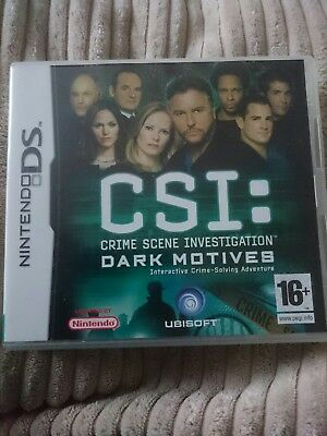 CSI: CRIME SCENE INVESTIGATION DARK MOTIVES NINTENDO DS GAME