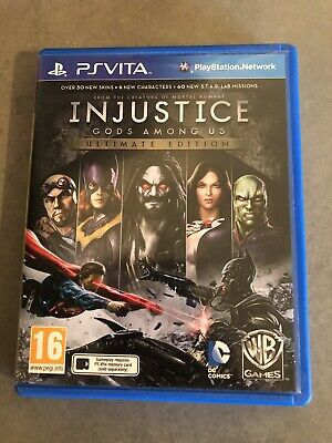 INJUSTICE GODS AMONG US ULTIMATE EDITION PS VITA USED BUT