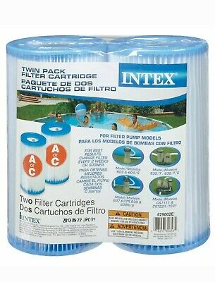 Intex Twin Pack Filter Cartridge E, Type A or C, for