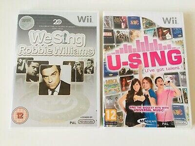 Nintendo Wii U-Sing U've Got Talent & We Sing Robbie