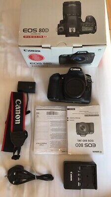 Canon EOS 80D 24.2MP Digital SLR Camera Body with
