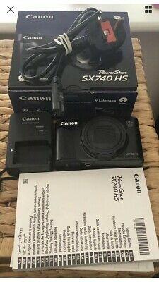 Canon PowerShot SX740 HS Digital Camera - Black