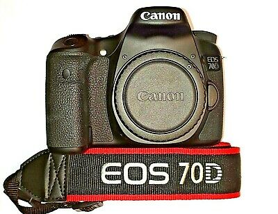 EXCEPTIONAL Canon EOS 70D 20.MP DSLR Camera ~Body Only Low