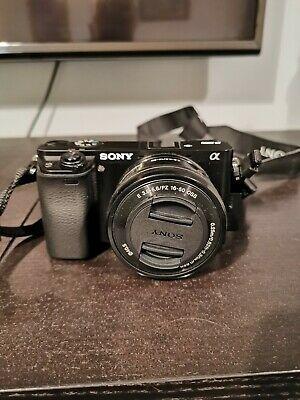 Sony Alpha AMP Digital Camera - Black  lens
