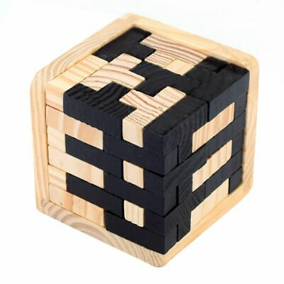 3D Wooden Puzzles Brain Teaser 54 T-shaped Blocks Geometric
