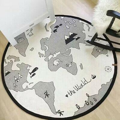 Cartoon Baby Crawling Mat Round Maze World Map Game Pad Kids