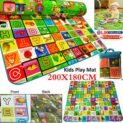 Extra Large 2 Side Play Mat Kids Baby Educational Puzzle
