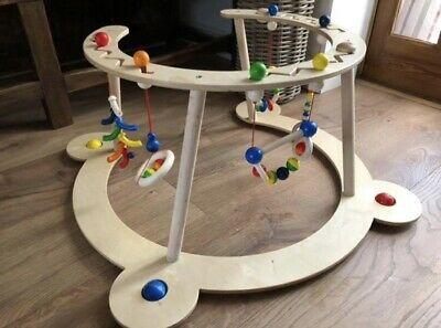 Hess  Wooden Gym & Walker Baby Toy, 70 x 70 x 36 cm,