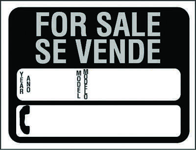 Hy Glo  Bilingual Identification Sign, For Sale Se