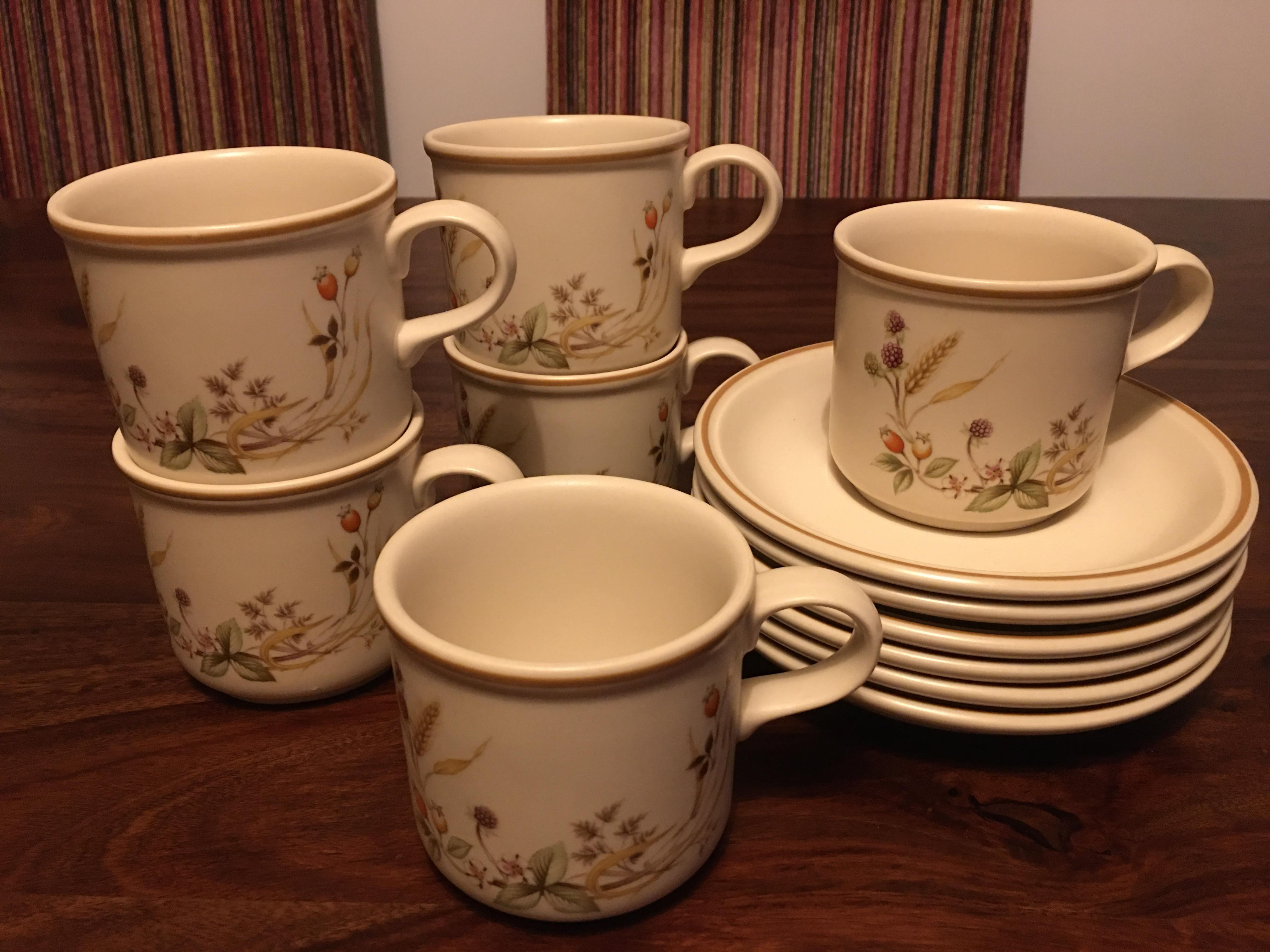 Marks & Spencer Harvest Regular Coffee Cups and Saucers